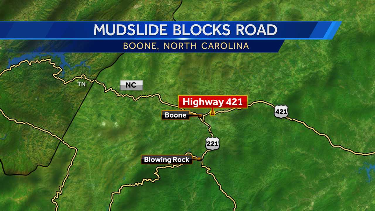Mudslide blocks Blue Ridge Parkway