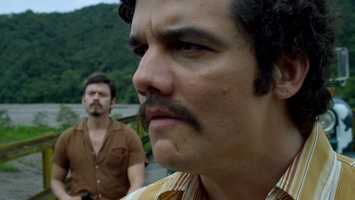Wagner Moura as Pablos Escobar in Narcos.
