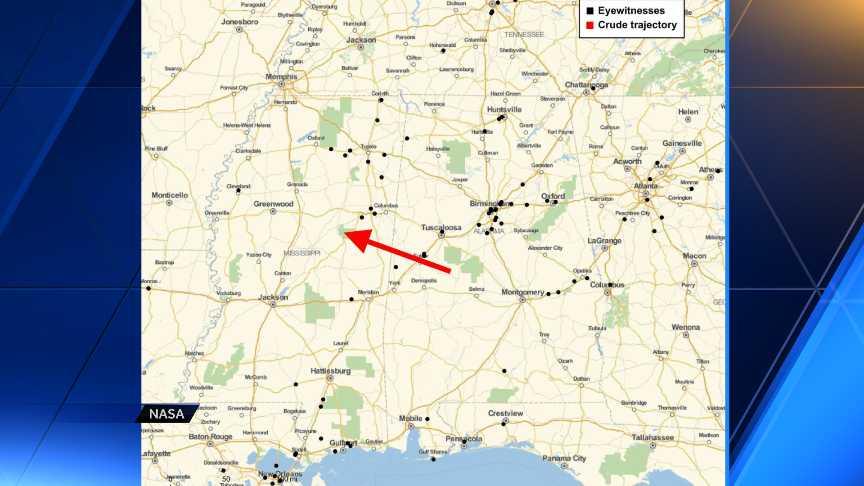NASA explains object seen in Louisiana sky.