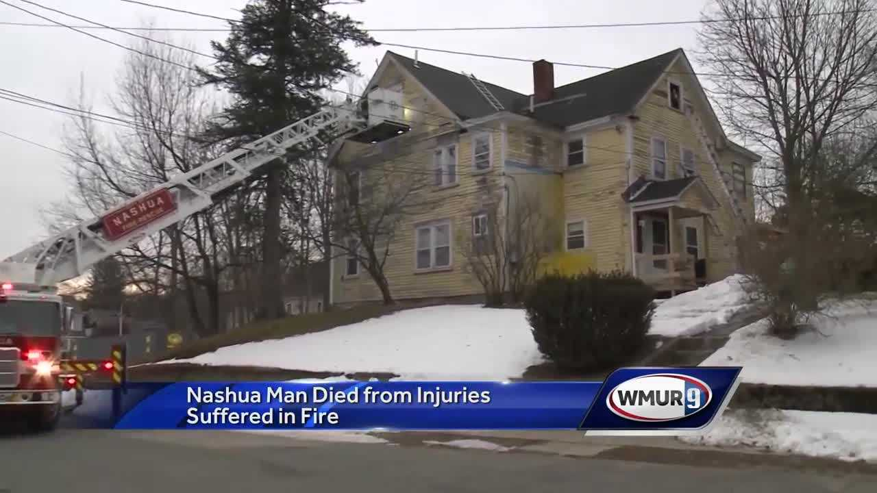 Nashua man dies from injuries suffered in fire