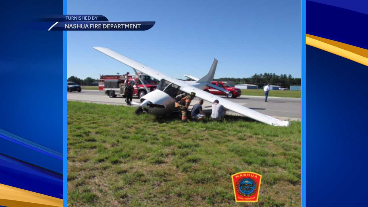 Plane veers off the runway at Nashua Airport