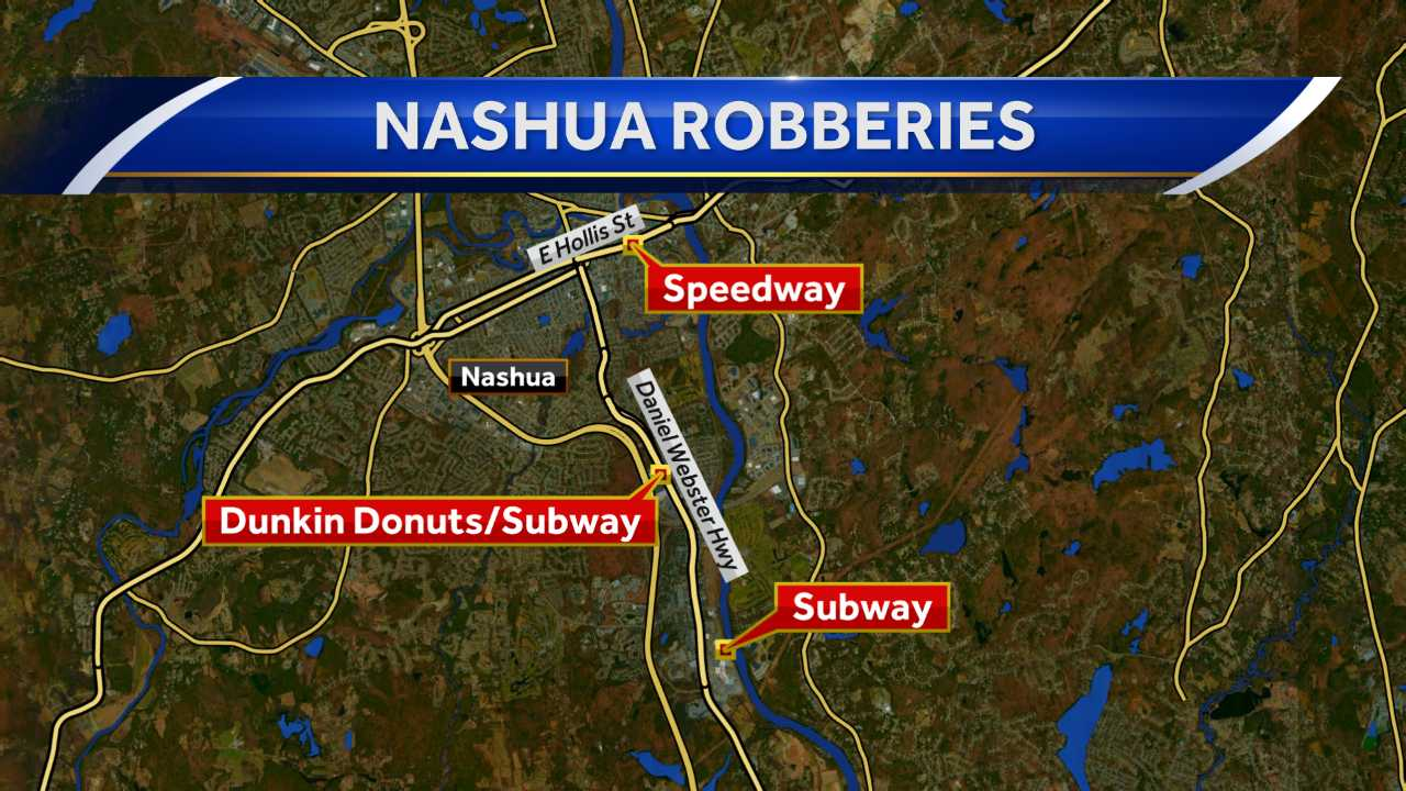 Nashua police investigating recent robberies around city