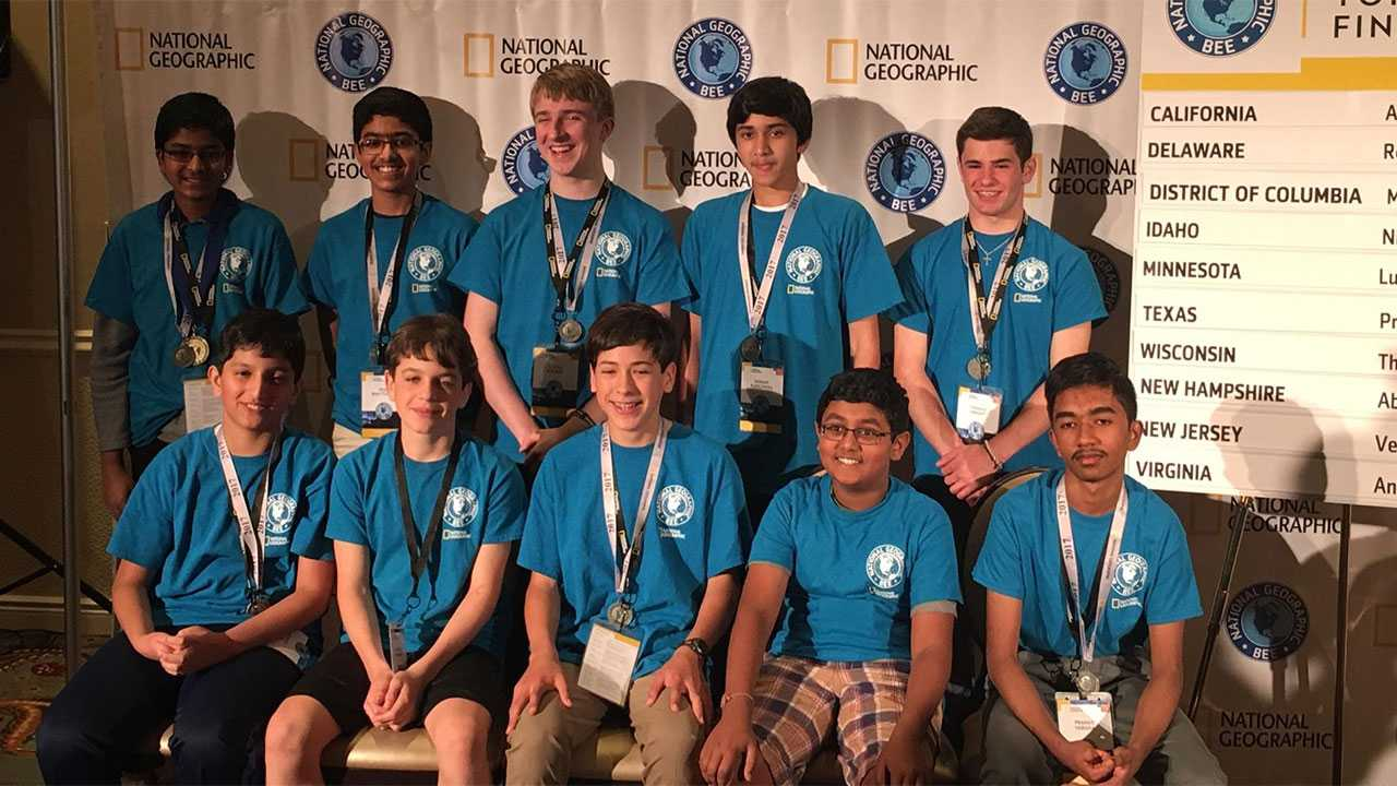 National Geography Bee finalists