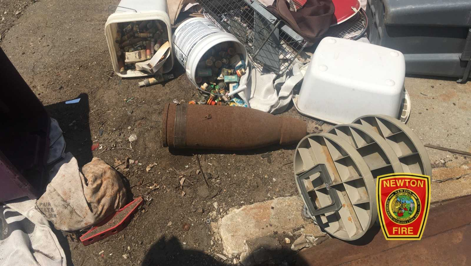 Navy artillery shell found