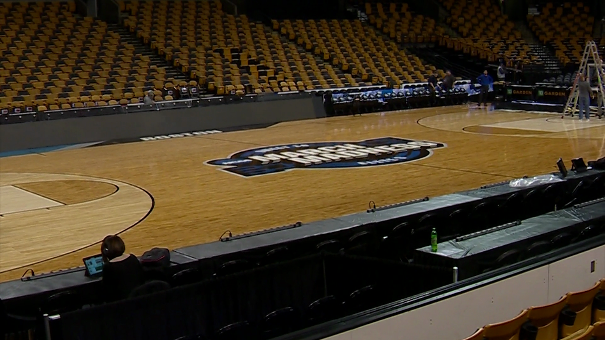 New floor installed at TD Garden for NCAA Tournament games