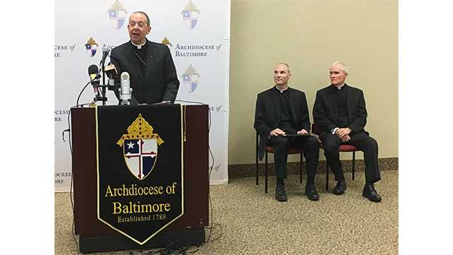 Archbishop William E. Lori introduces Bishop-elect Adam Parker and Bishop-elect Mark Brennan.