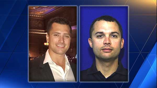 From left to right: Officers Eric Pessino and Scott Shumway