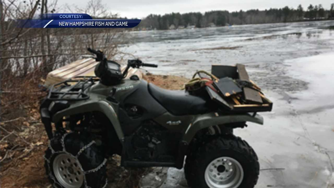 Four-wheeler driver facing charges after crashing through ice