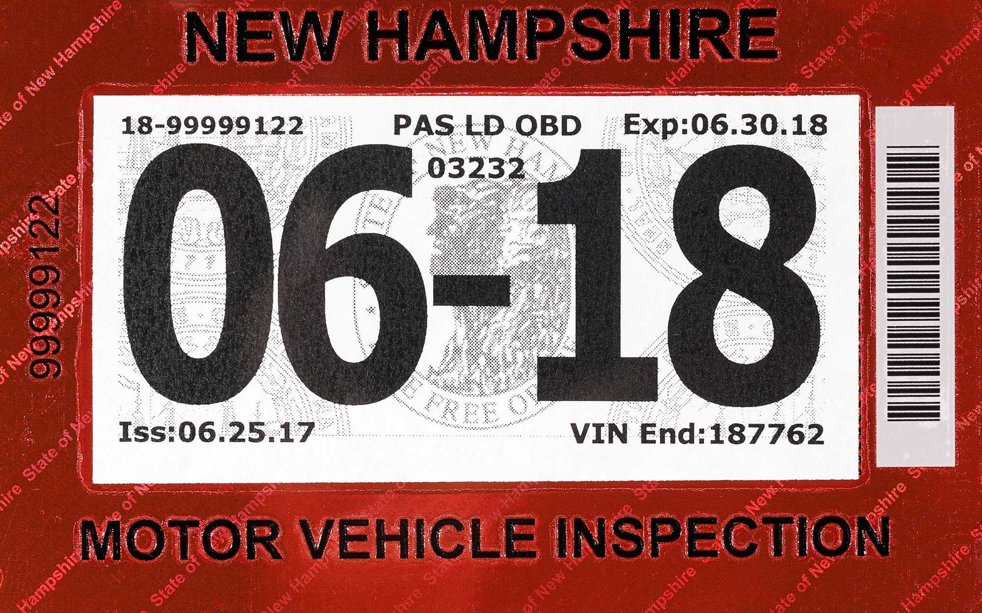 Nh Dmv Announces Changes To State Inspection Stickers