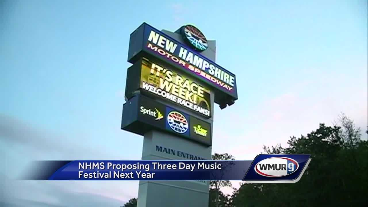 NH Motor Speedway proposing 3-day music festival next year