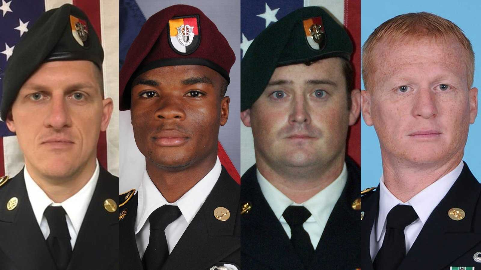 Pictured from left to right is Staff Sgt. Bryan Black, Sgt. La David Johnson, Staff Sgt. Dustin Wright, Staff Sgt. Jeremiah Johnson.