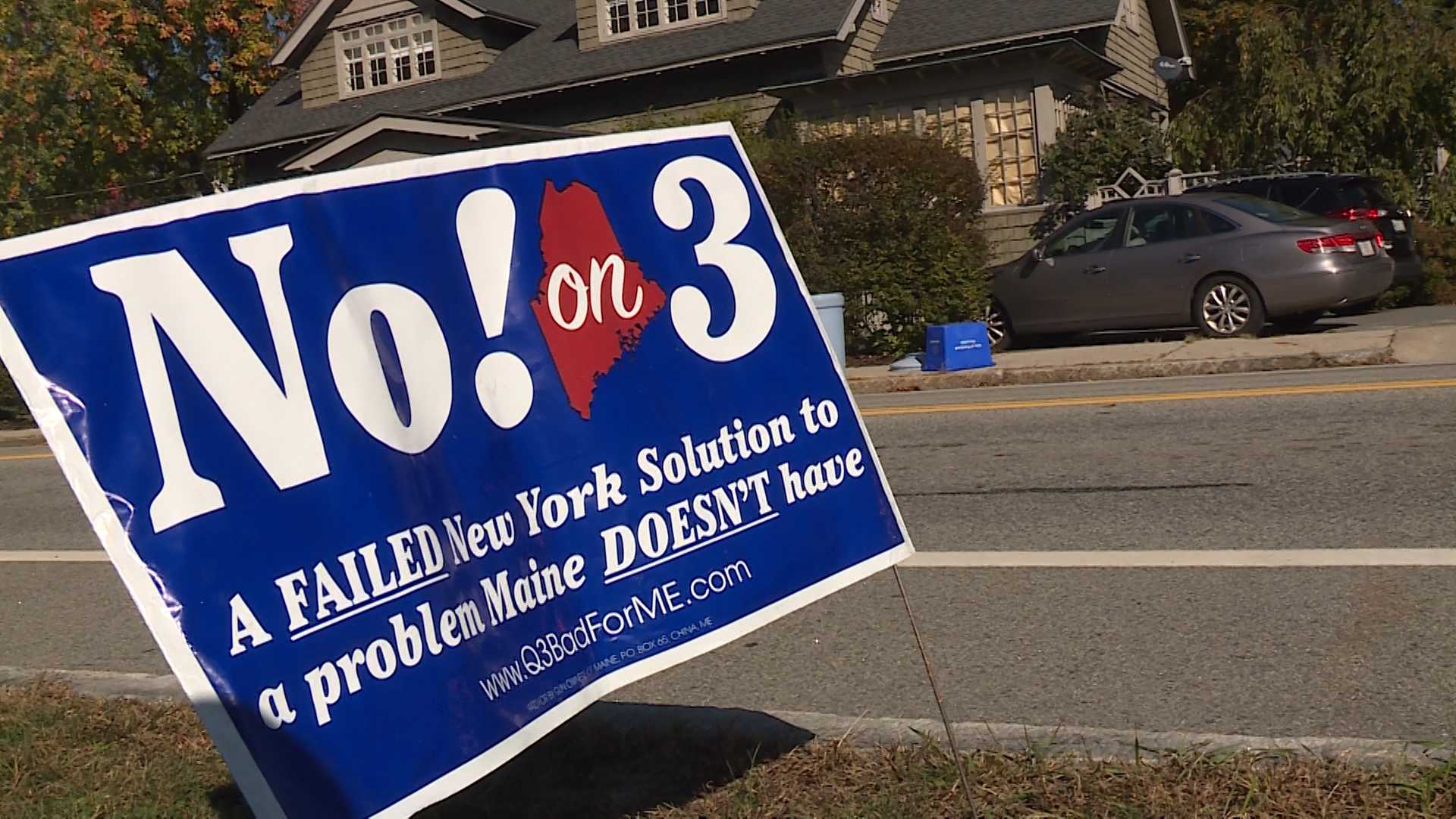 No on 3 sign