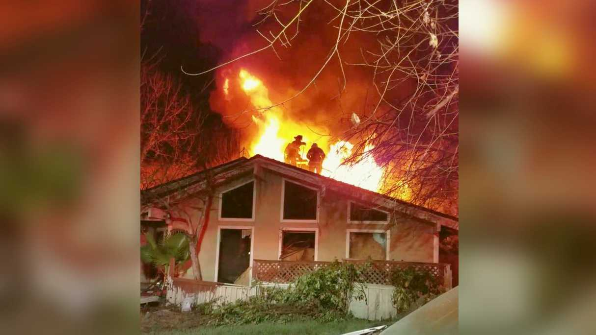 Firefighters battle blaze at a North Highlands vacant home one Dec. 25, 2016, the Sacramento Metro Fire Department said.