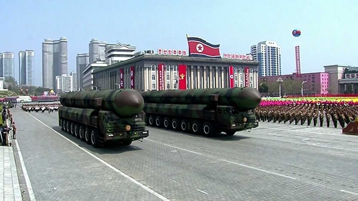 North Korea showed off its new missiles and launchers during its annual military parade