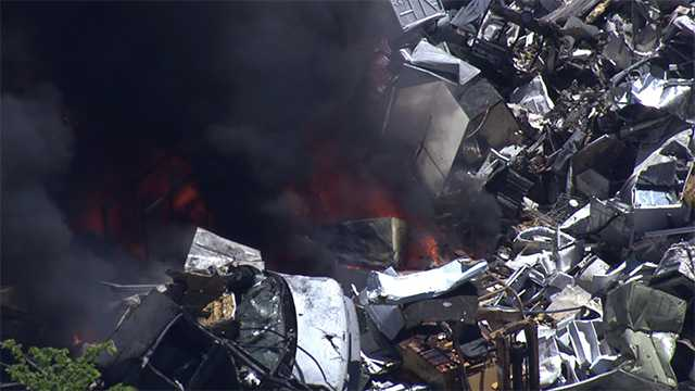 North Point recycling plant fire