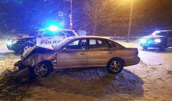 Car v plow crash