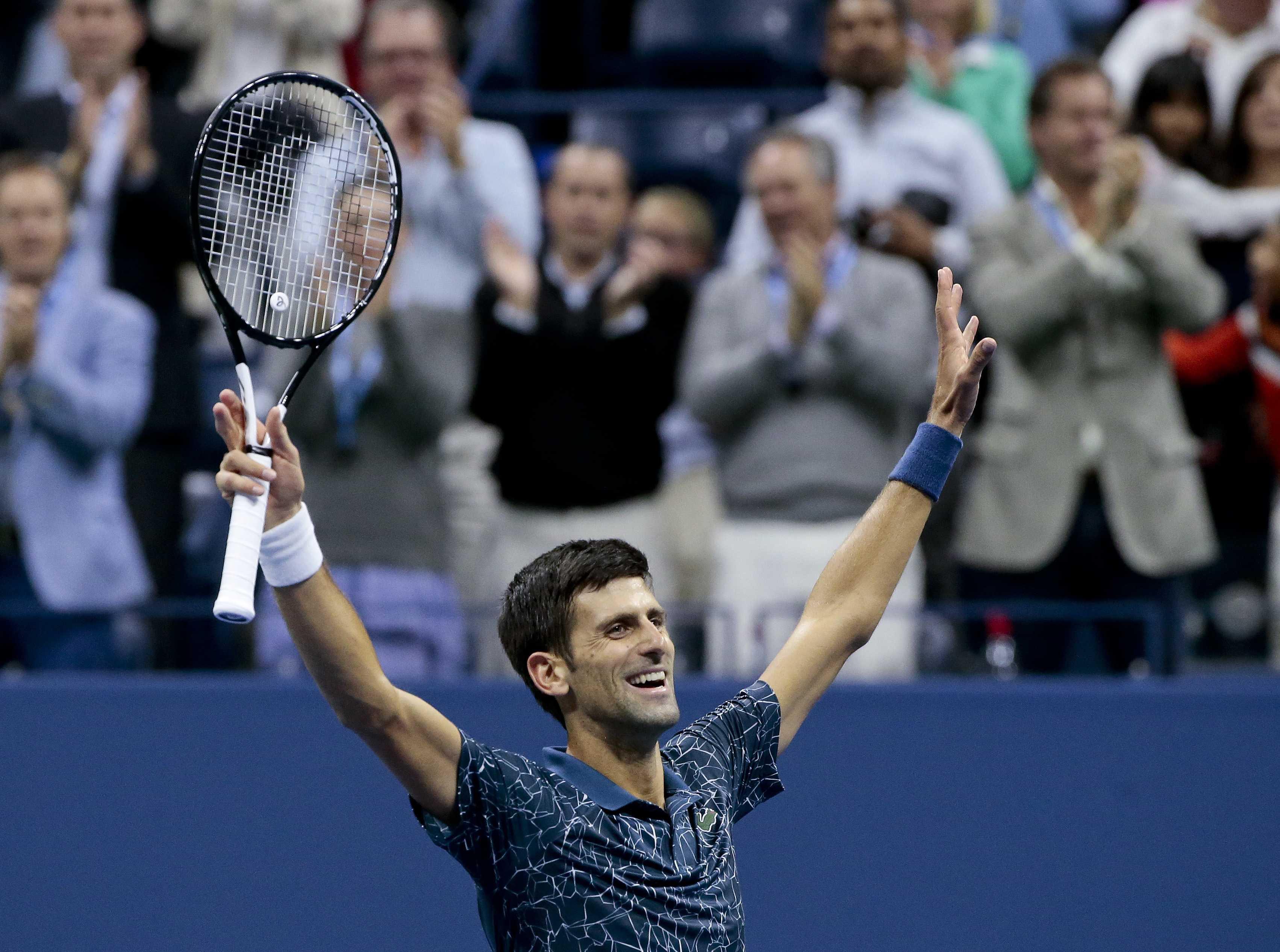 Djokovic tops del Potro for 3rd title at US Open, 14th Slam