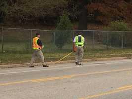 NTSB investigators at bus crash scene