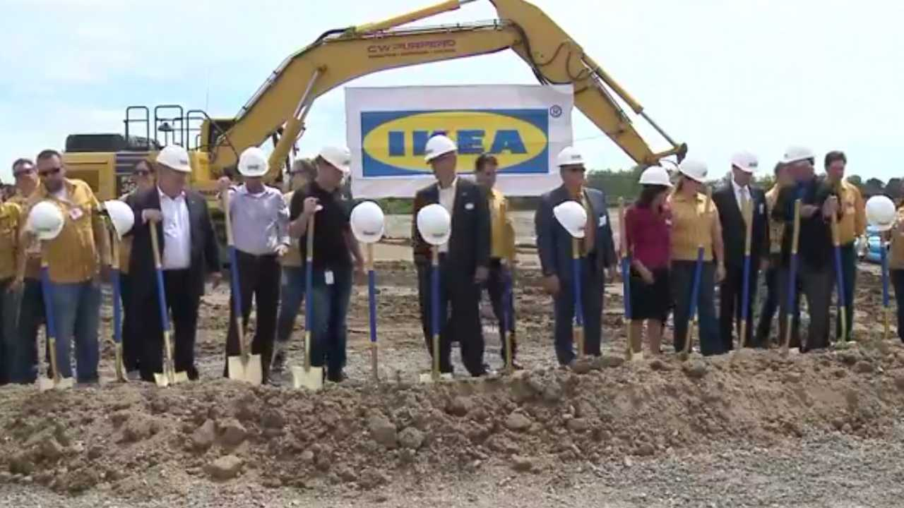 . Groundbreaking ceremony for Oak Creek IKEA store