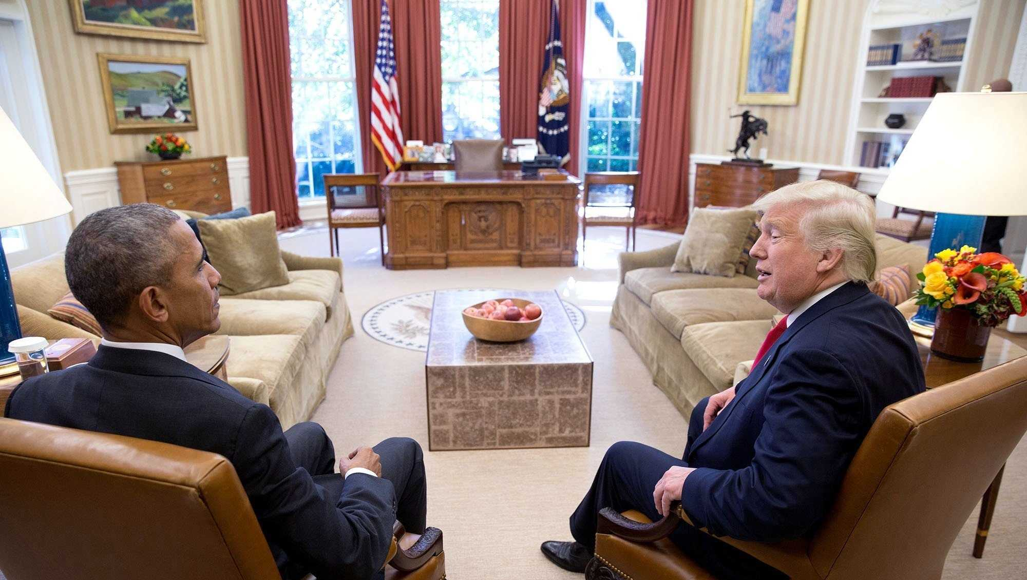 Then-President Barack Obama and Then-President-ElectDonald Trump are seen here at the White House in late 2016.