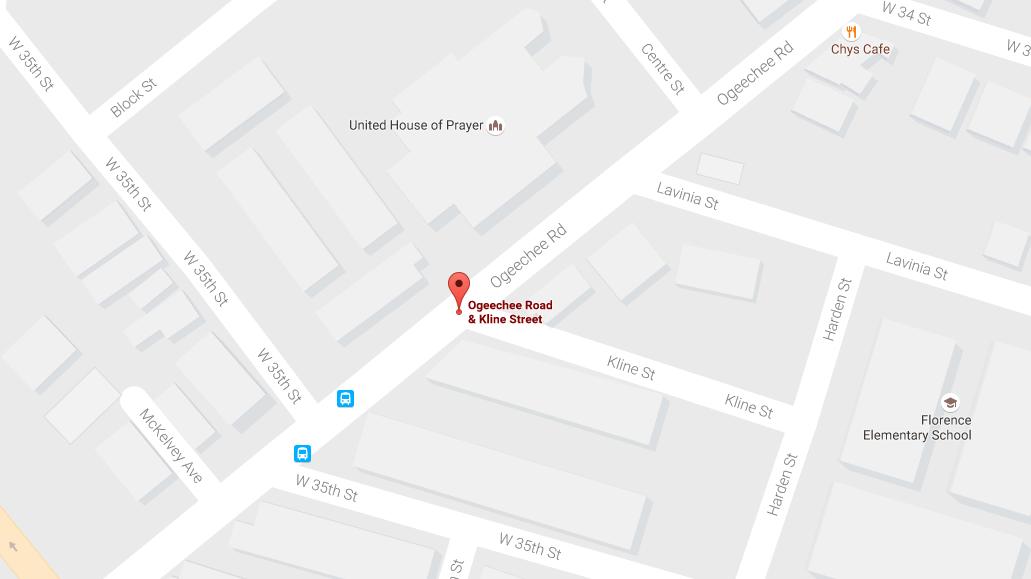 Report of shots fired at Ogeechee Road & Kline Street