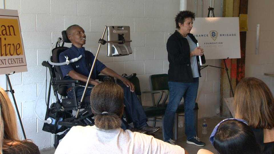 OJ Brigance speaks at Man Alive Treatment Center