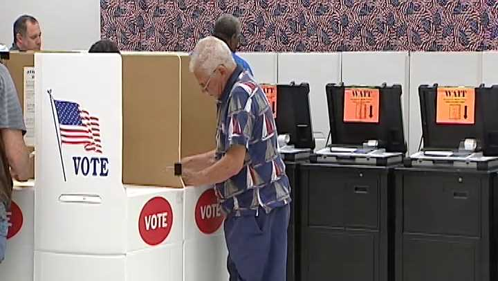 2014 file image of voting in Oklahoma