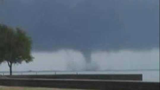 Tornado over the lake
