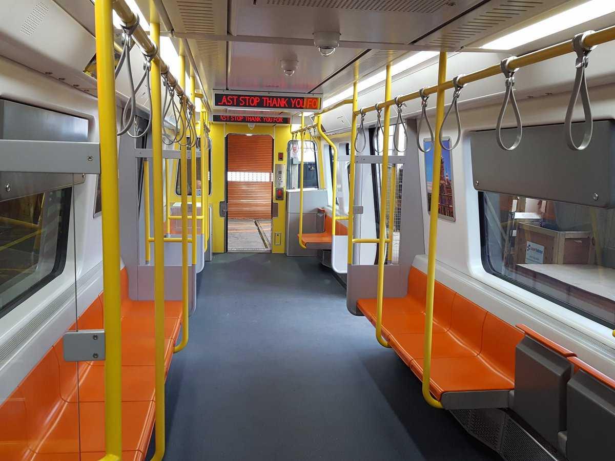 Orange line mockup