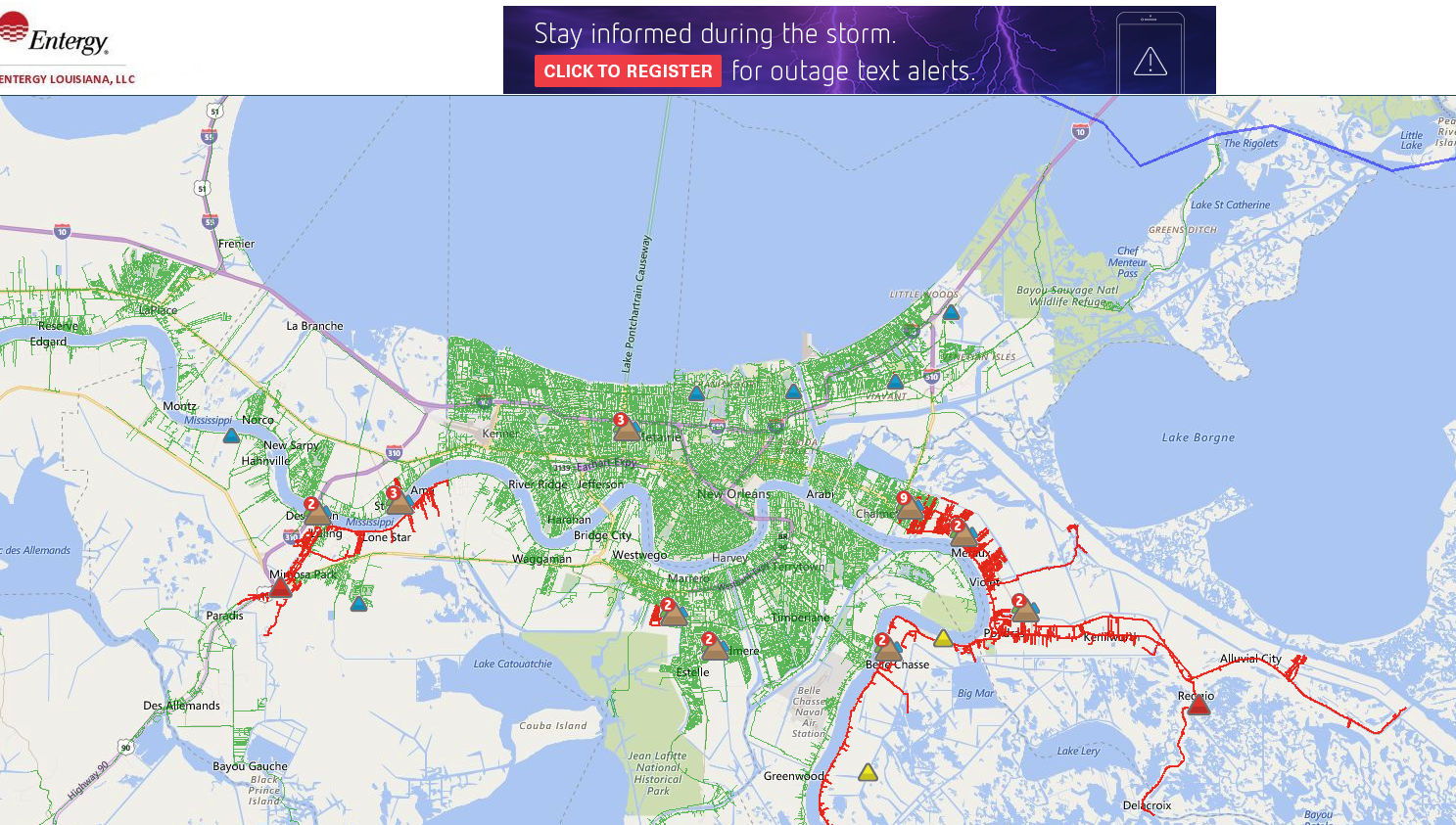 . winter storm leaves thousands of entergy customers without power