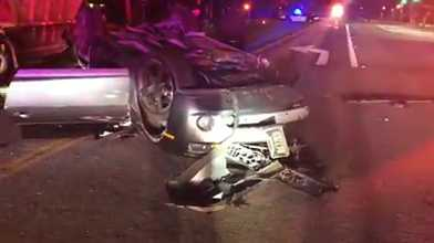 Watsonville PD Find Stolen Car Abandoned After Accident - Stolen car