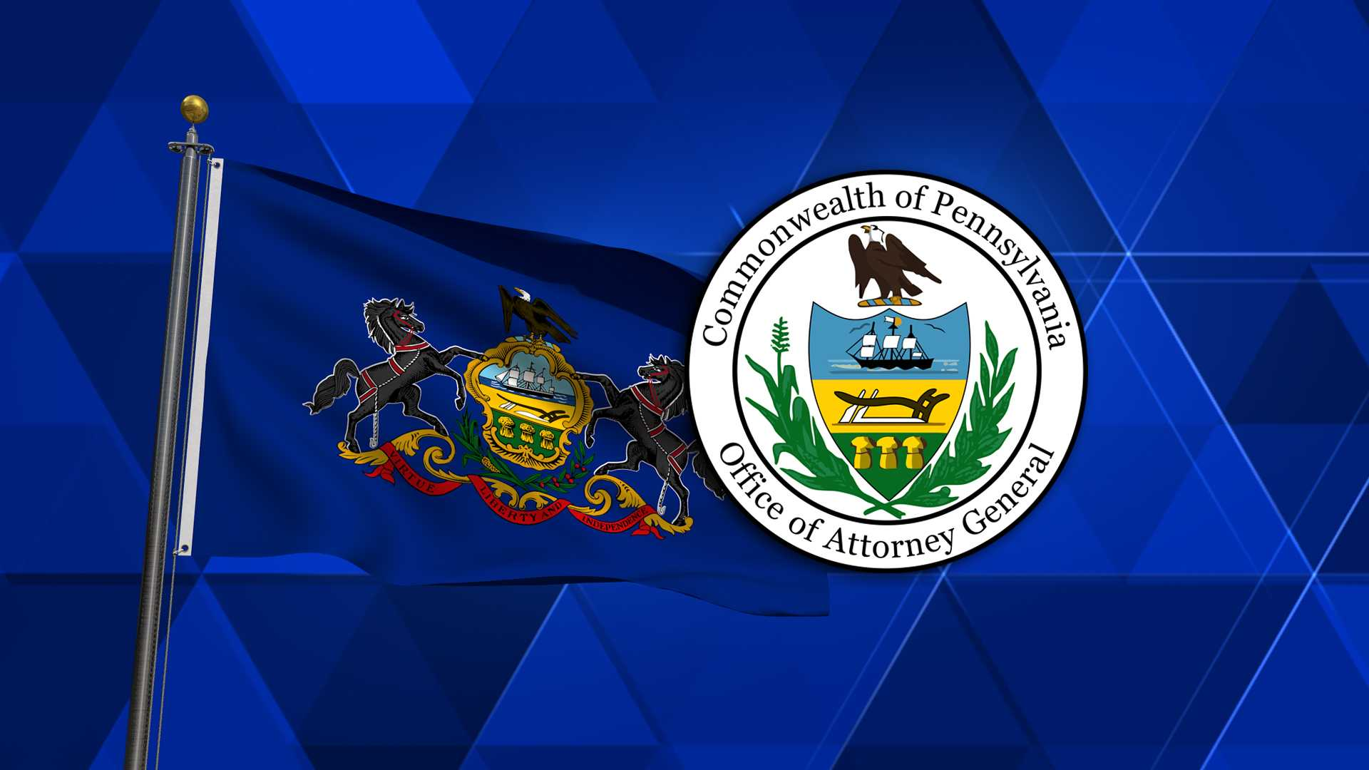 Pennsylvania Attorney General Flag and Seal