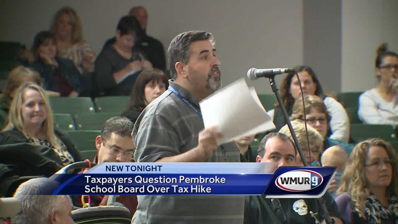Pembroke taxpayers question school board over tax hike
