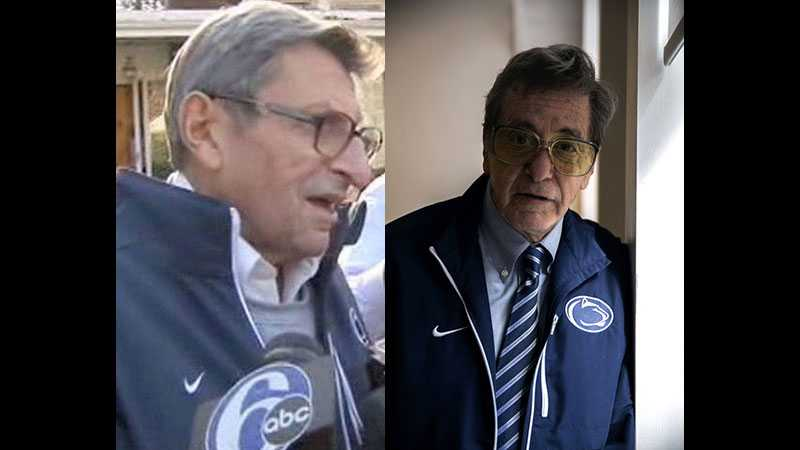 Al Pacino (right) will play Joe Paterno (left) in an HBO movie.