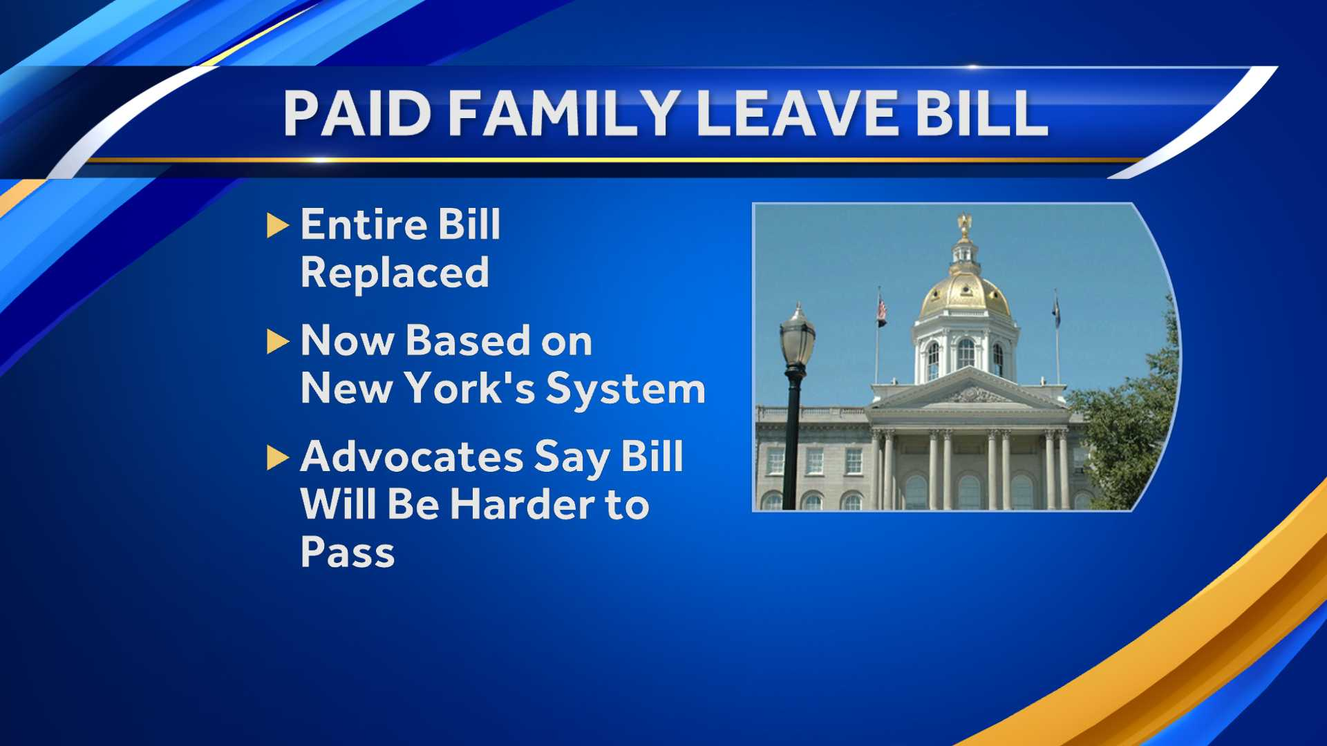 Paid family leave bill overhauled Wednesday night