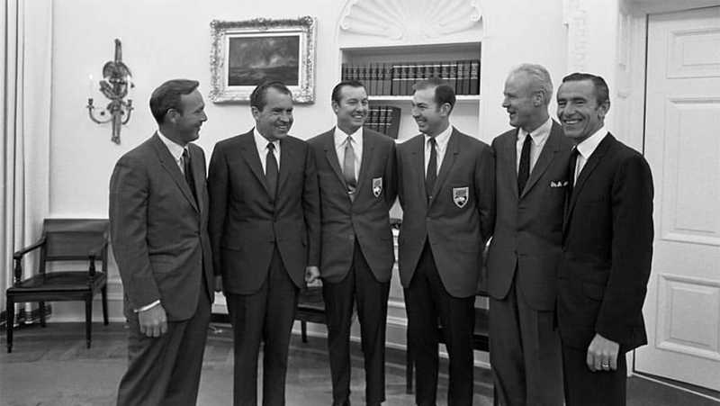 President Nixon and Arnold Palmer