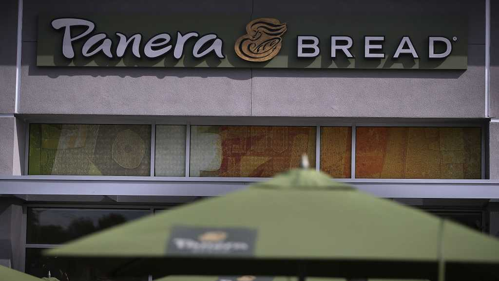 A view of a Panera Bread restaurant on April 5, 2017 in Daly City, California.