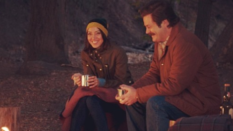 Ron Swanson and April Ludgate