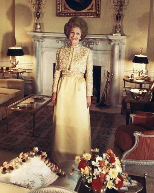 Pat Nixon in her inaugural gown on Jan. 20, 1969.