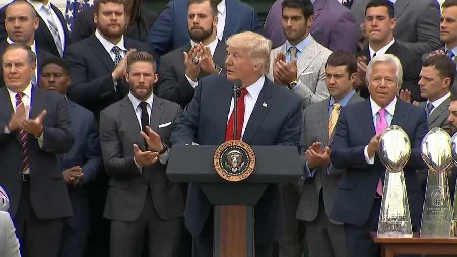 Patriots visit Trump in the White House