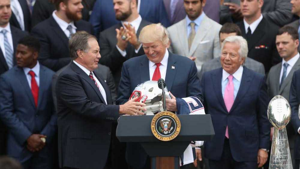 Trump welcomes the New England Patriots to the White House