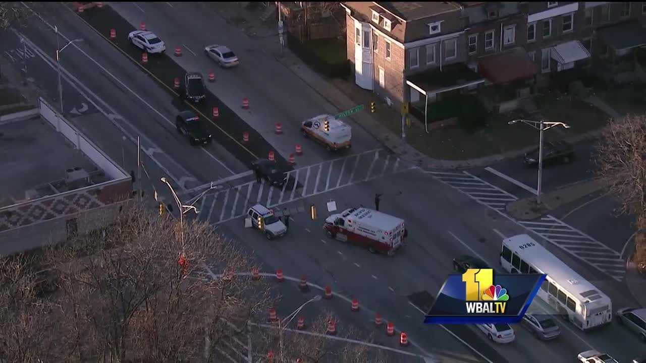 Pedestrians struck in west Baltimore