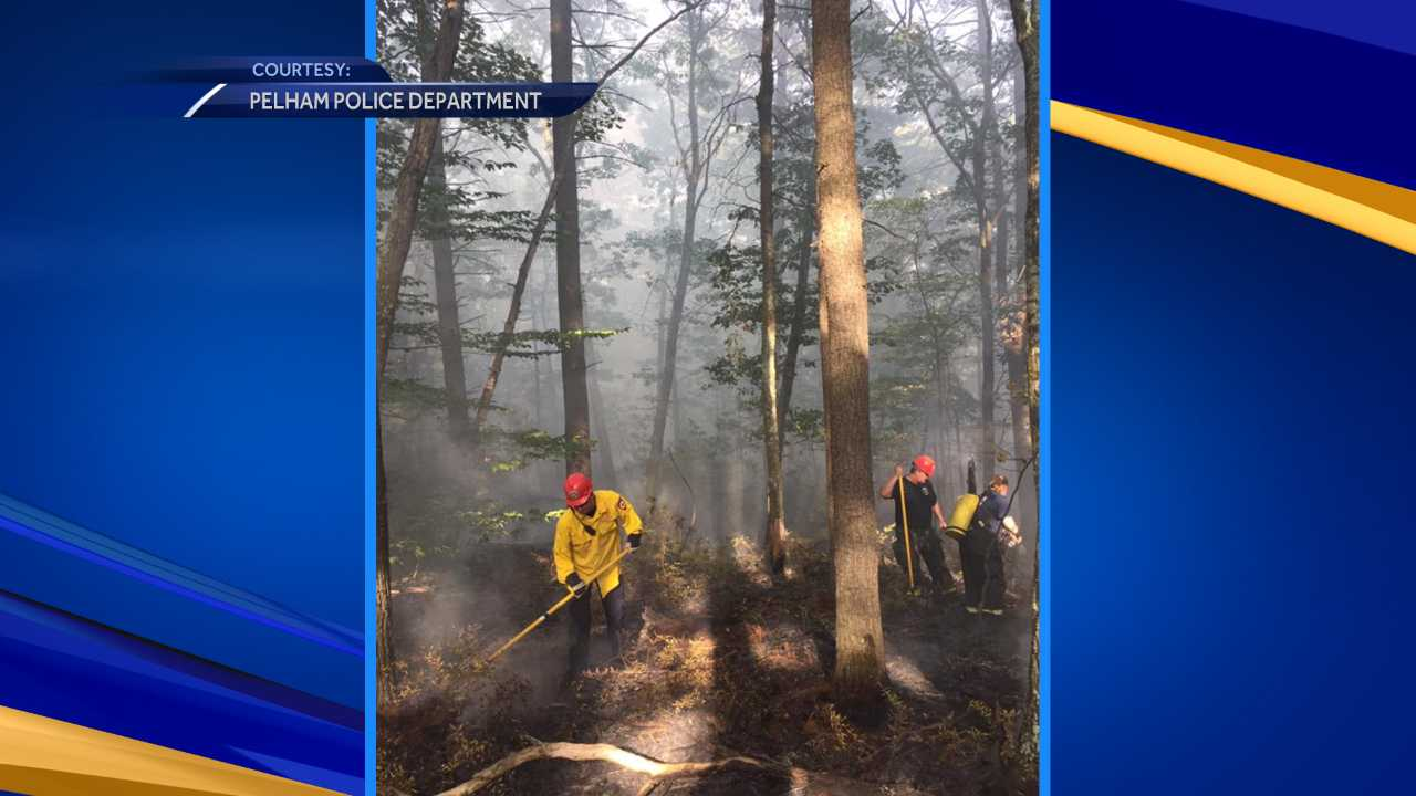 Crews battle large brush fire in Pelham