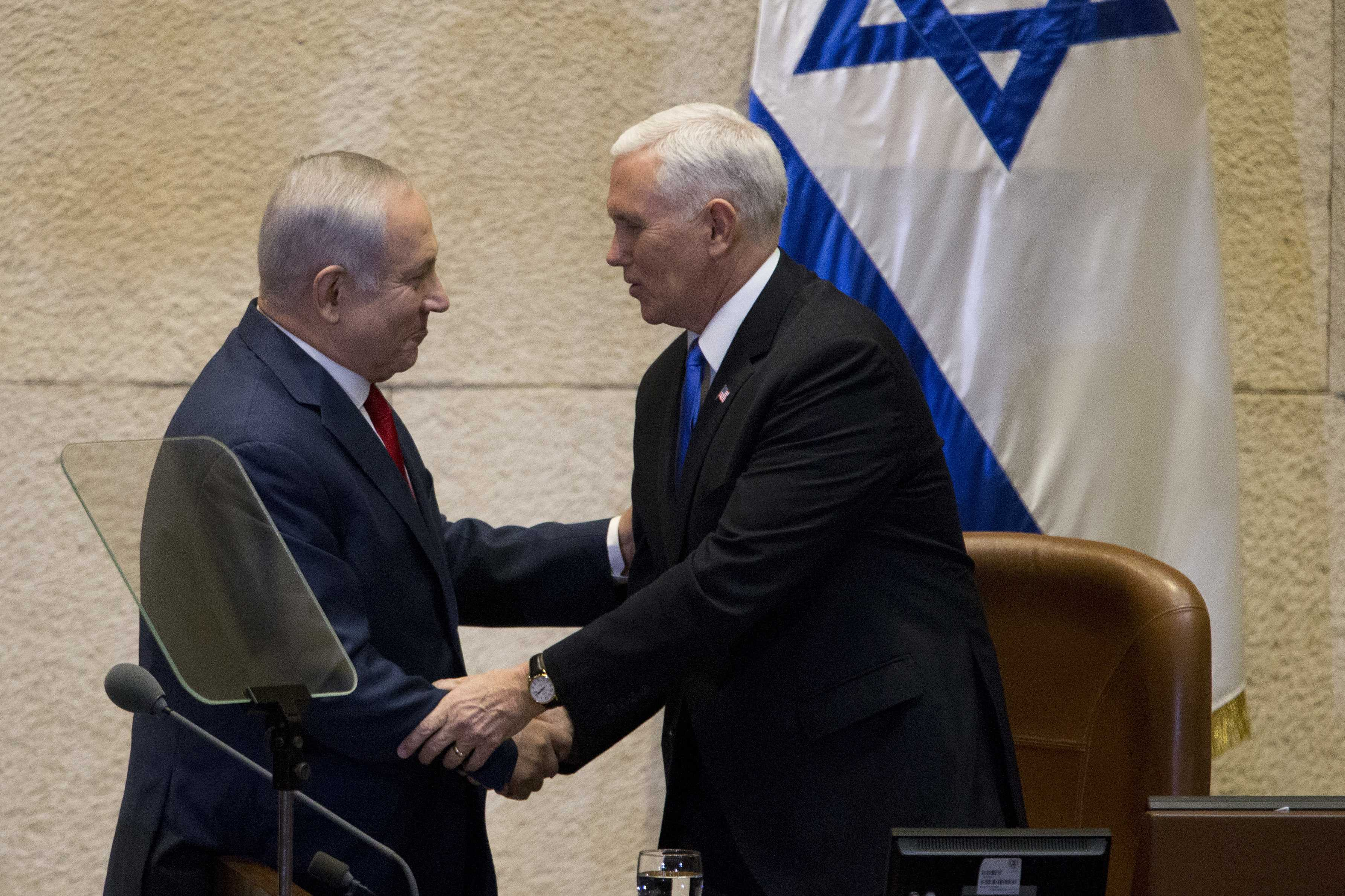 US Vice President Mike Pence arrives in Israel, heads to Jerusalem