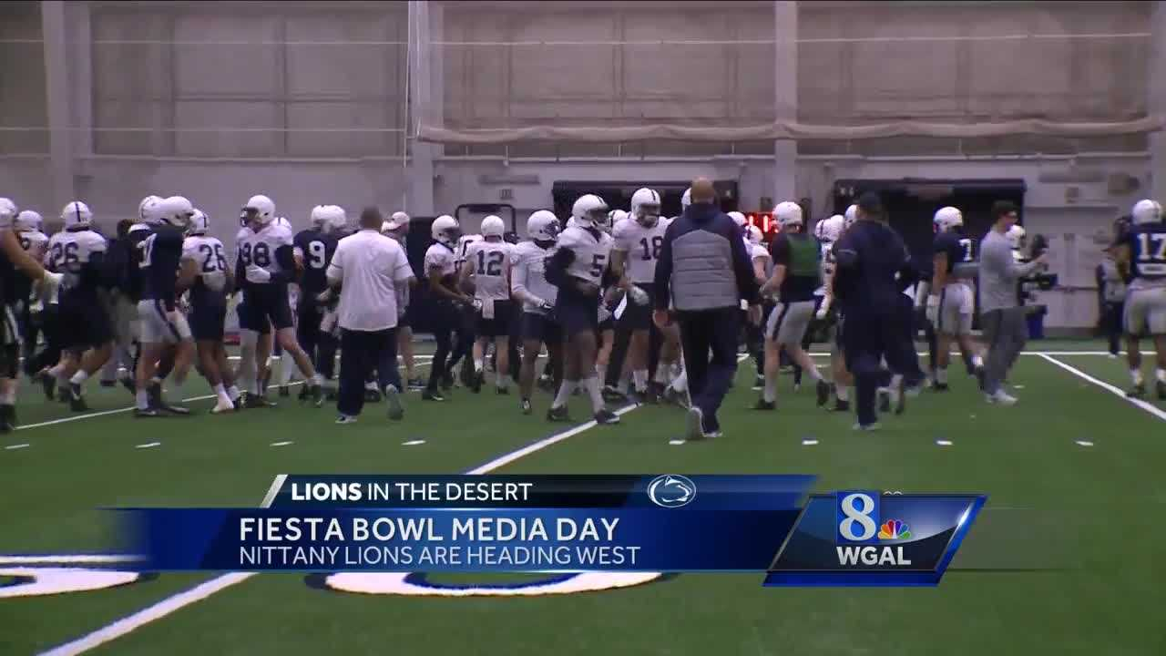 Players practice at State College before their trip to Arizona.