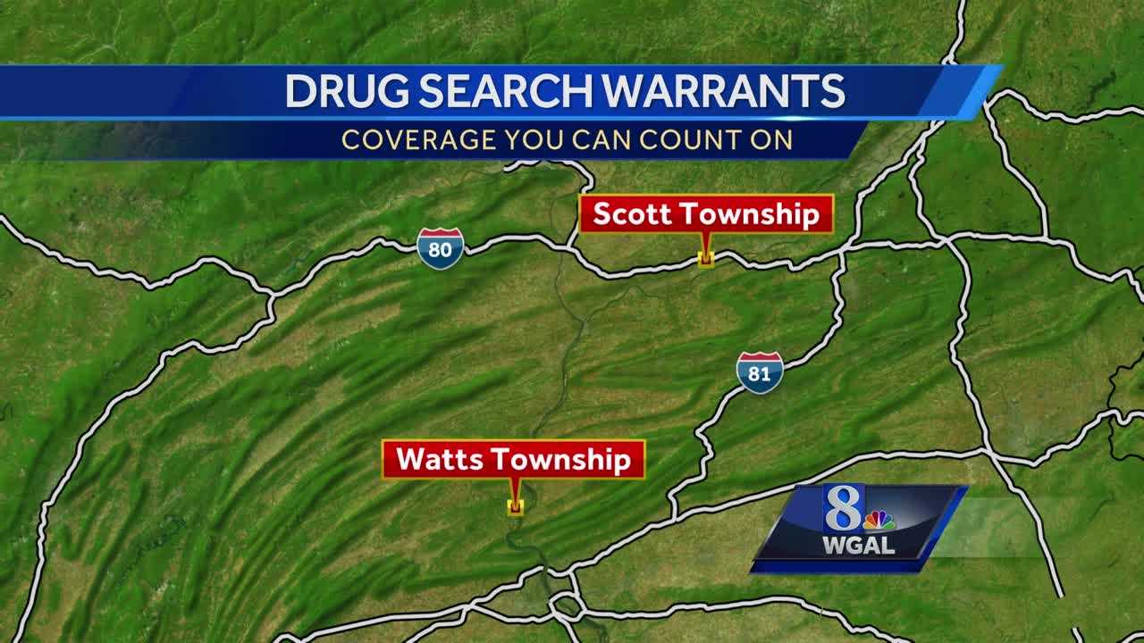 Perry County drug bust map
