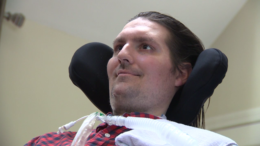 Family: Frates back in hospital