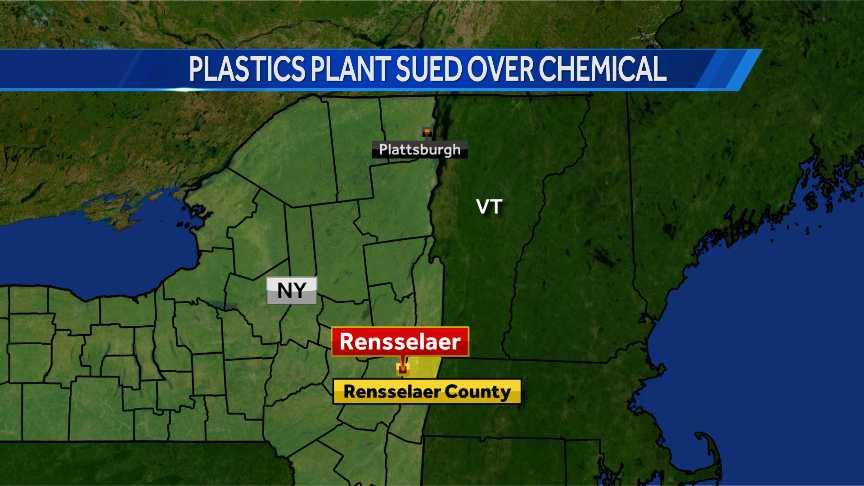 Plastics plant sued over chemical