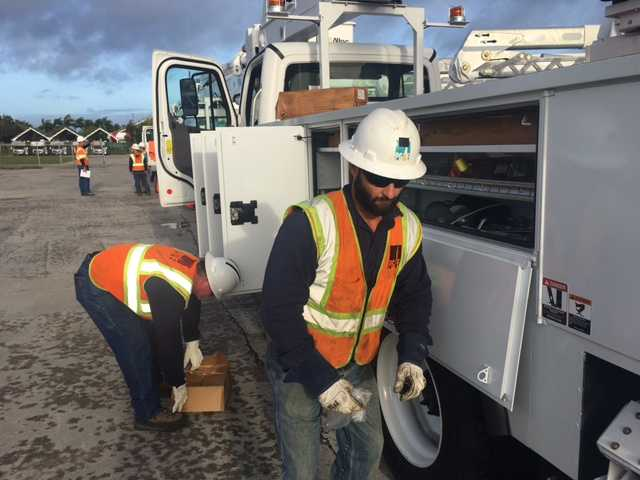 Gulf Power Crews Deploy To Restore Power After Irma