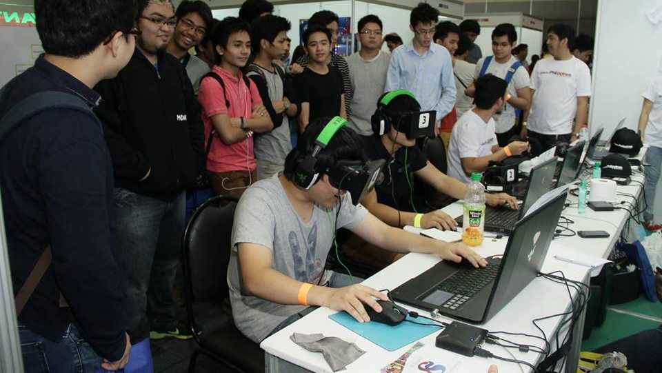 File image of people using Oculus Rift